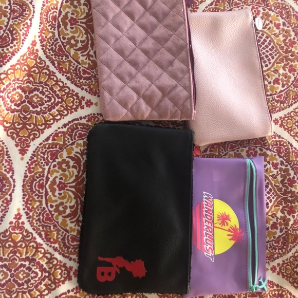 Lot of Ipsy makeup bags cosmetic cases